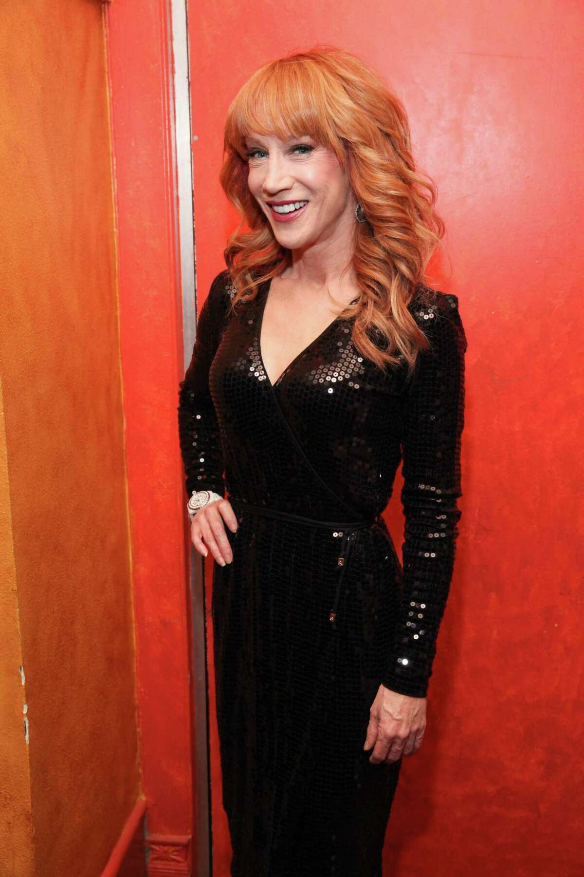 NEW YORK, NY - NOVEMBER 08: (EXCLUSIVE COVERAGE) Kathy Griffin celebrates her Carnegie Hall performance at her official after party hosted by Anderson Cooper at Trattoria Dell Arte Restaurant on November 8, 2013 in New York City.