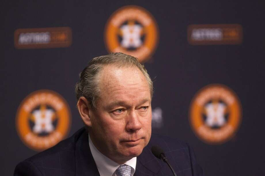 Jim Crane answers questions during a press conference at Minute Maid Park about the lawsuit Crane filed against former Astros owner Drayton McLane, Comcast and NBC Universal. Photo: Johnny Hanson, Houston Chronicle