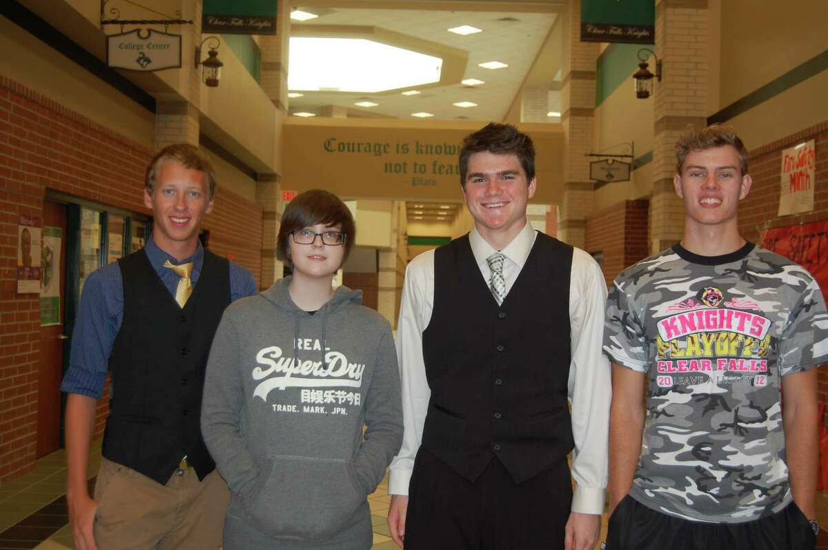 Clear Falls's Brett Bacon is not only a solid football player, but also a National Merit semifinalist.