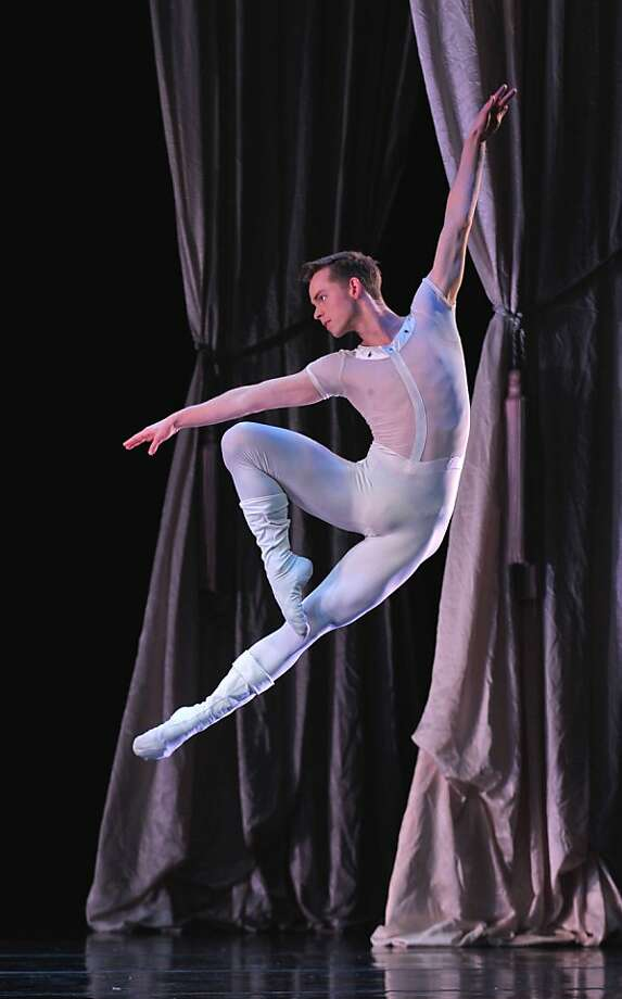 "Smuin dancer Christian Squires leaps in ""The Bells."" Photo: David Allen"