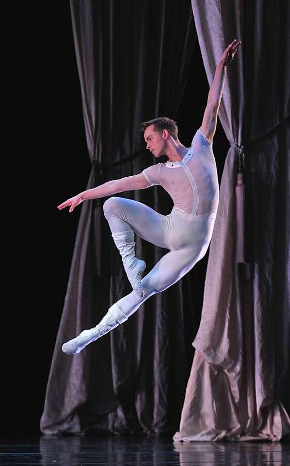 "Smuin dancer Christian Squires leaps in ""The Bells."" Photo: David Allen"