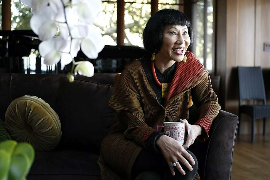 Author Amy Tan talks about her life and career during an interview at her home in Sausalito, CA Tuesday, October 29, 2013. Photo: Michael Short, The Chronicle