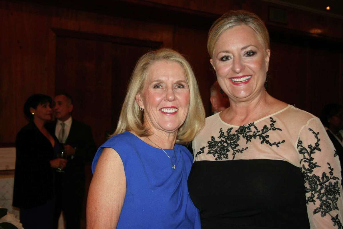 Kay Slack-Beard, left, and Shanta Kuhl, Central Fort Bend Chamber president, were all smiles at the successful event.