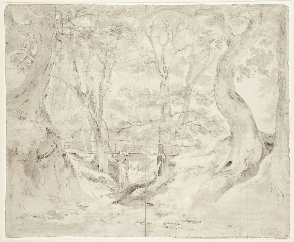 """This image made available by auctioneers Christie's in London shows a landscape by John Constable, Â?""""Helmingham Dell, Suffolk,"""" which fetched 662,500 pounds ($1.068.000/790,000 euro) _ a record for a drawing by the artist at auction, during an auction of artwork collected by poet T.S. EliotÂ?'s widow, Valerie Eliot, in London, Wednesday evening, Nov. 20, 2013. The collection netted 7.1 million pounds ($11.4 million/8.5 million euro) and included drawings and watercolors by 18th- and 19th-century British artists and sculptors including Francis Bacon, Lucien Freud, and David Hockney. (AP Photo/Christie's)"""