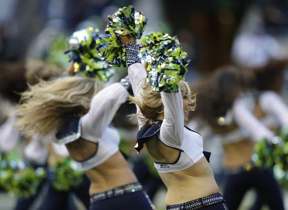 Sea Gals perform during the Buccaneers game Nov. 3. Photo: Stephen Brashear, Associated Press