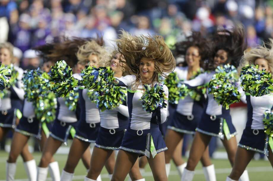 Sea Gals perform during the Vikings game Nov. 17. Photo: Ted S. Warren, Associated Press