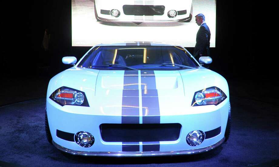The Galpin Ford GTR1, a 1,000HP supercar, which reaches a top speed of 225mph (362.1kph), is displayed on November 21, 2013 at the LA Auto Show in Los Angeles, California. Photo: FREDERIC J. BROWN, Getty Images / 2013 AFP