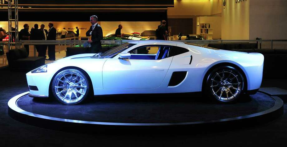 The Galpin Ford GTR1, a 1,000HP supercar, which reaches a top speed of 225mph (362.1kph), is displayed on November 21, 2013 at the LA Auto Show in Los Angeles. Photo: FREDERIC J. BROWN, Getty Images / 2013 AFP