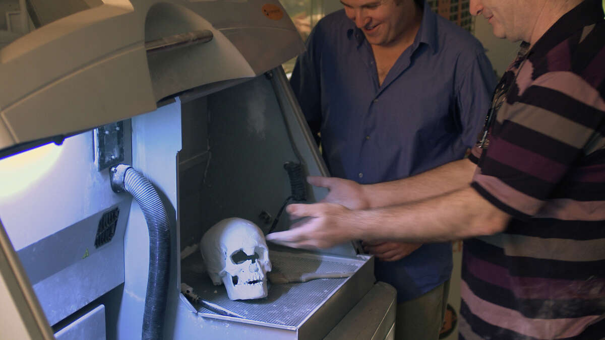 """This printed 3-D skull appears in the """"Delilah Revealed"""" episode of """"Lost Faces of the Bible."""""""