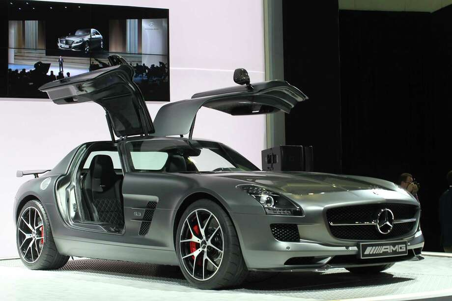 A Mercedes-Benz SLS AMG GT concept is displayed during media preview days at the 2013 Los Angeles Auto Show on November 20, 2013 in Los Angeles, California. Photo: David McNew, Getty Images / 2013 Getty Images