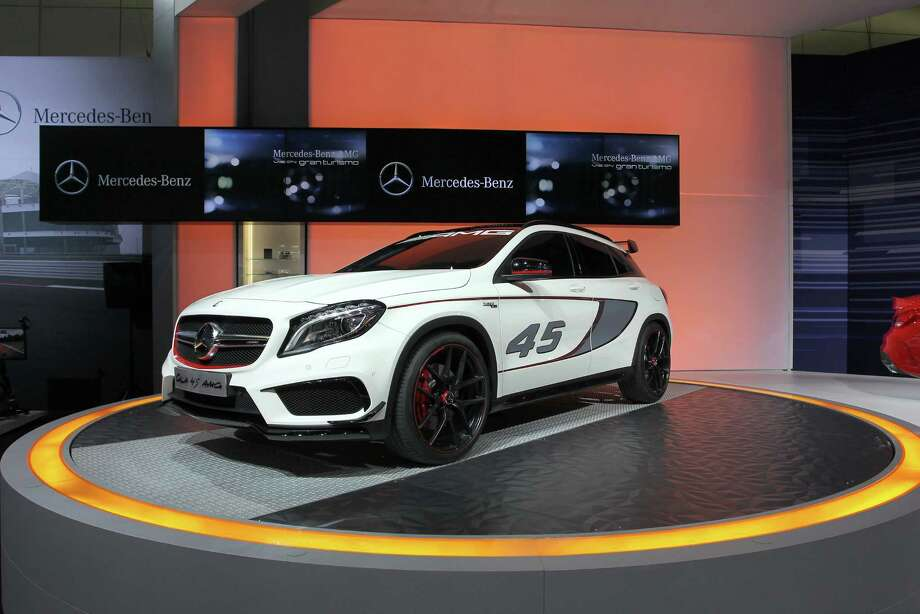 A Mercedes-Benz GLA 45 AMG concept is displayed during media preview days at the 2013 Los Angeles Auto Show on November 20, 2013 in Los Angeles, California. Photo: David McNew, Getty Images / 2013 Getty Images