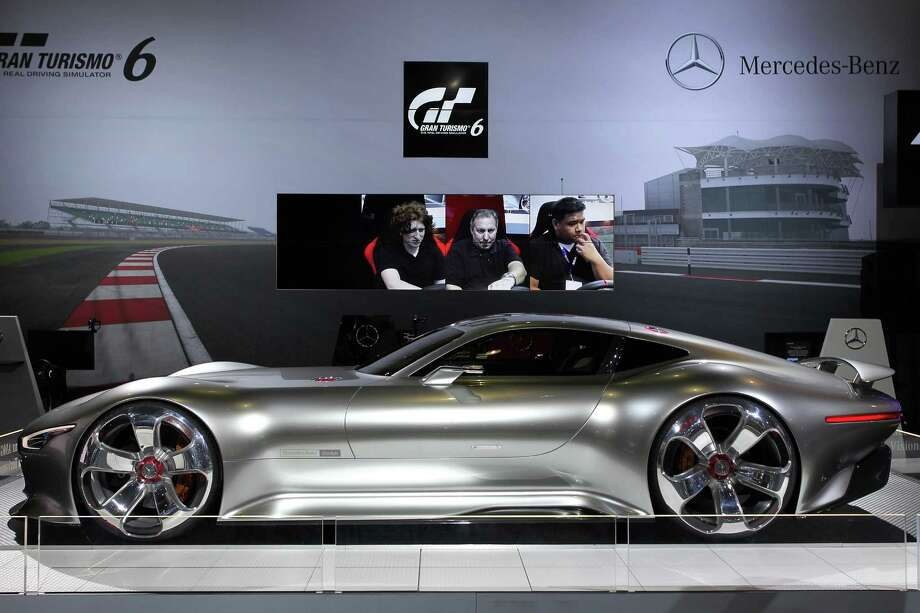 A Mercedes-Benz AMG Vision Gran Turismo is displayed during media preview days at the 2013 Los Angeles Auto Show on November 20, 2013 in Los Angeles, California. Photo: David McNew, Getty Images / 2013 Getty Images