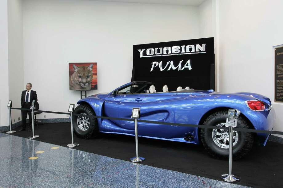 A large Youabian Puma vehicle is displayed at the 2013 Los Angeles Auto Show on November 21, 2013 in Los Angeles, California. Photo: David McNew, Getty Images / 2013 Getty Images