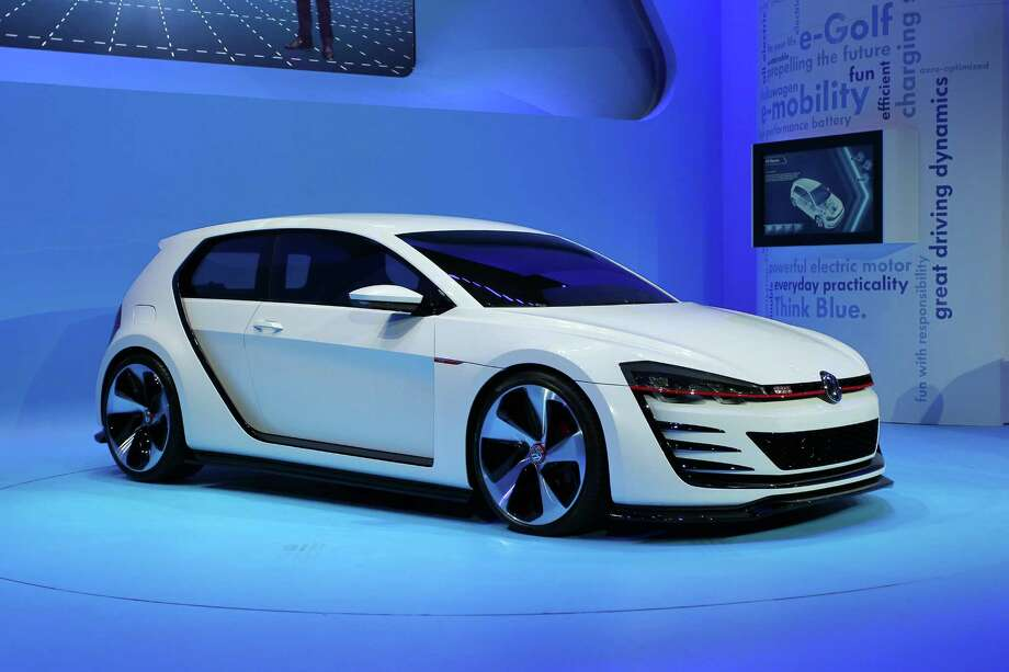 A Volkswagen GTI is shown during media preview days at the 2013 Los Angeles Auto Show on November 20, 2013 in Los Angeles, California. Photo: David McNew, Getty Images / 2013 Getty Images