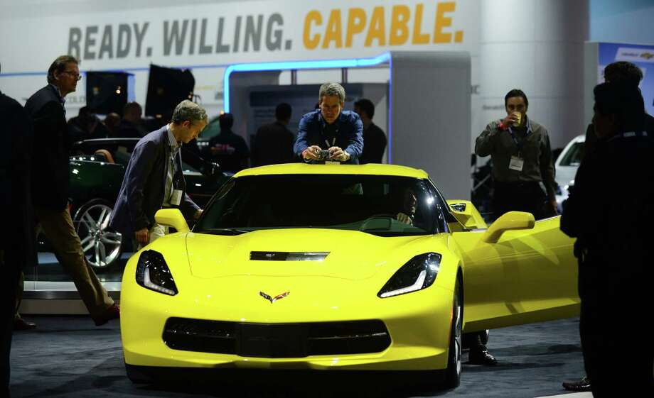 The 2014 Corvette Stingray is displayed on November 20, 2013 during media previews at the LA Auto Show in Los Angeles, California. Photo: FREDERIC J. BROWN, Getty Images / 2013 AFP