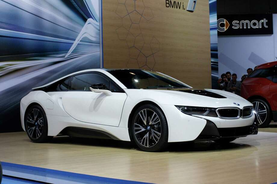 A 2014 BMW i8 is shown during media preview days at the 2013 Los Angeles Auto Show on November 20, 2013 in Los Angeles, California. Photo: David McNew, Getty Images / 2013 Getty Images