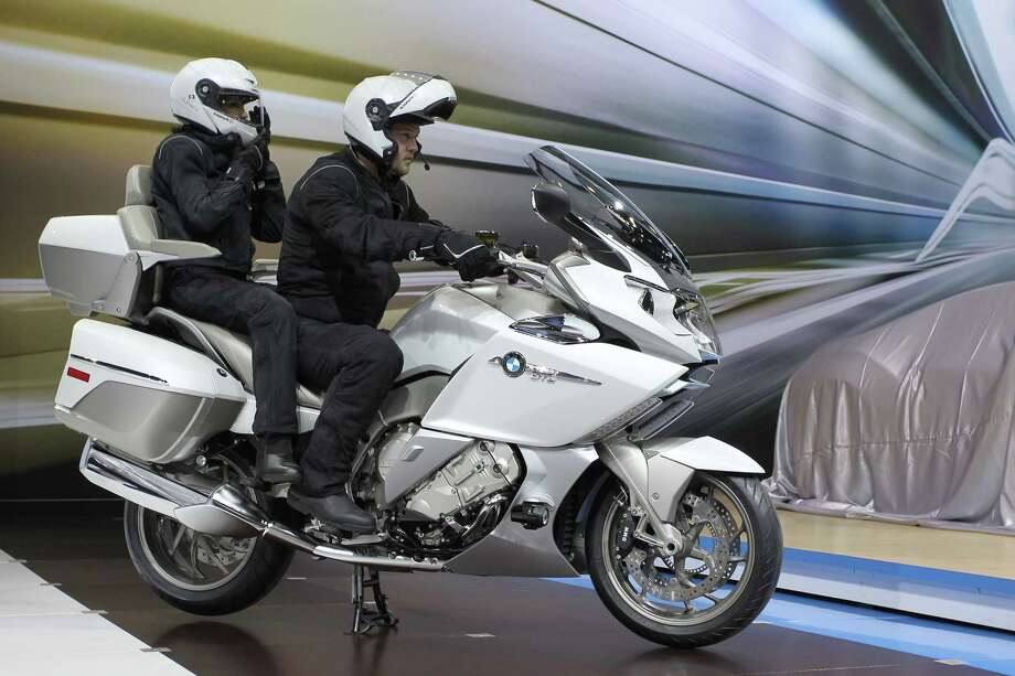 A 2014 BMW K1600 GTL motorcycle is shown during media preview days at the 2013 Los Angeles Auto Show on November 20, 2013 in Los Angeles, California. Photo: David McNew, Getty Images / 2013 Getty Images