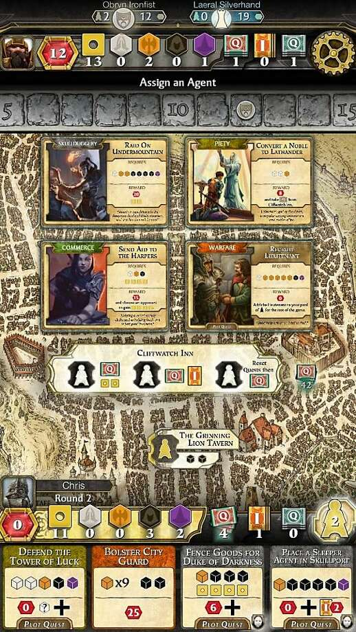 App of the week: Lords of Waterdeep. Orginally a physical board game published by Wizards of the Coast, the Dungeons and Dragons themed game was digitally adapted for iOS devices by mobile games developer Playdek. Photo: Playdek
