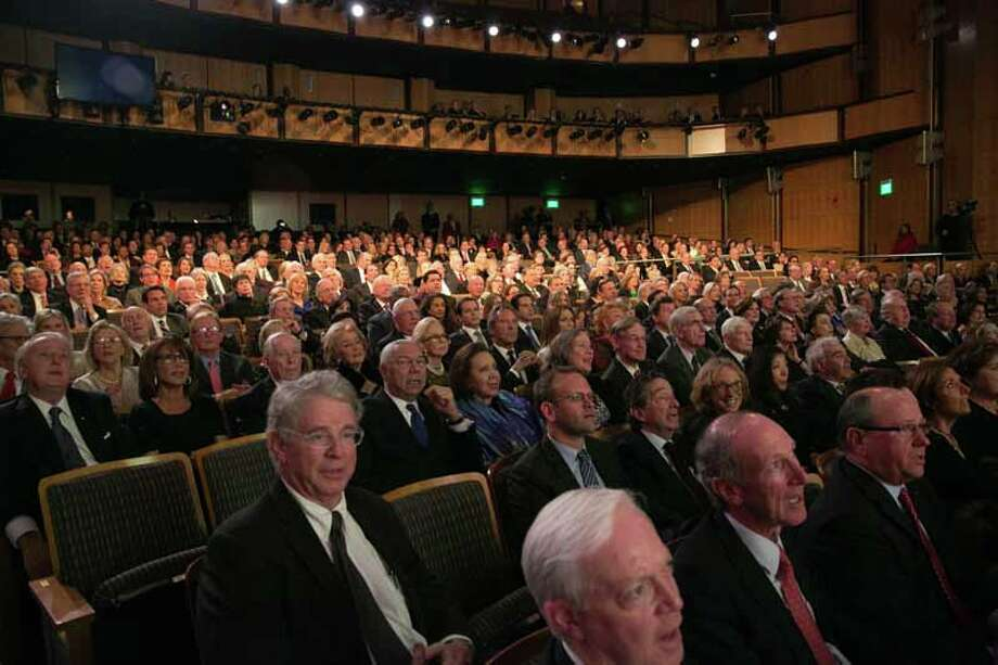 The audience at the Nov. 12 Conversation With a Living Legend tribute to former Secretary of State James A. Baker III at the John F. Kennedy Center for the Performing Arts. Photo: Shmulik Almany