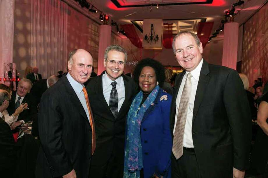 Eddy Blanton, Ron DePinho, Sheila Jackson Lee and Tom Buchholz Photo: Shmulik Almany