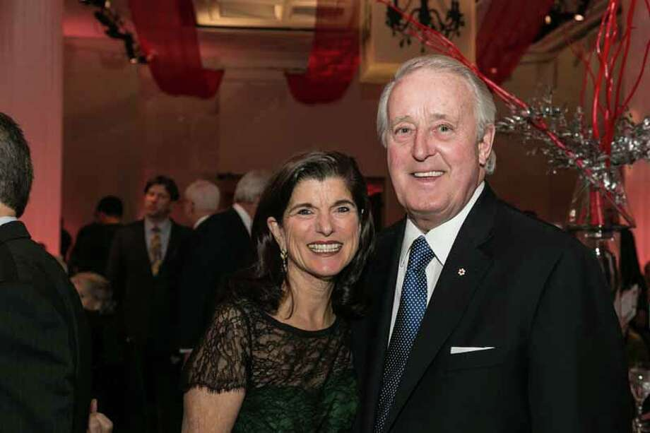 Luci Baines Johnson and Brian Mulroney Photo: Shmulik Almany