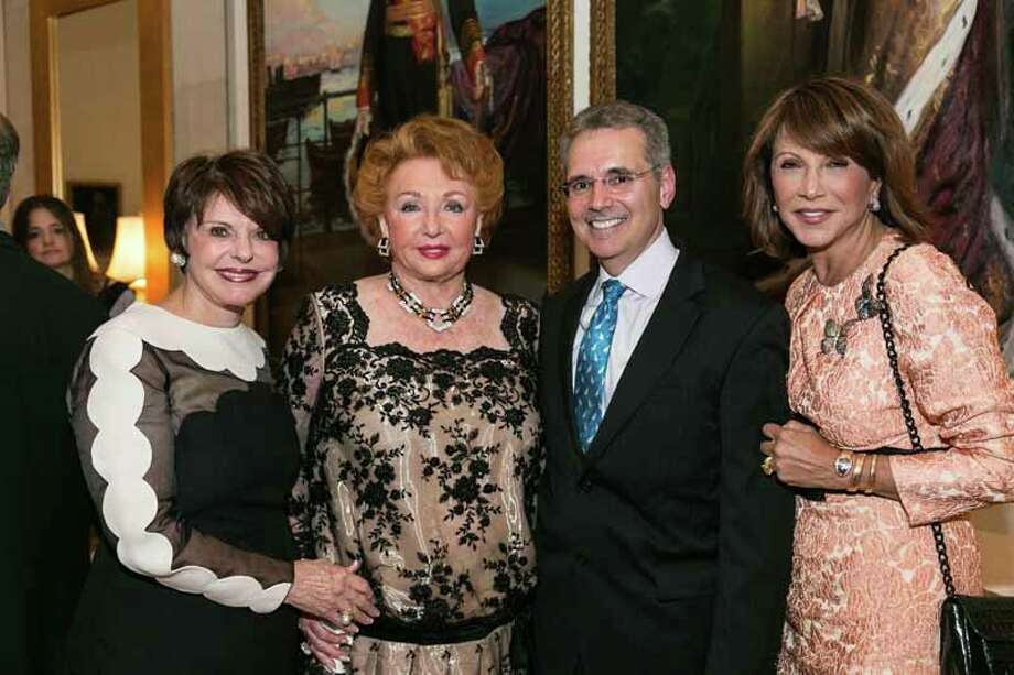 Marlene Malek, Jacqueline Desmarais, Ron DePinho and Mila Mulroney Photo: Shmulik Almany