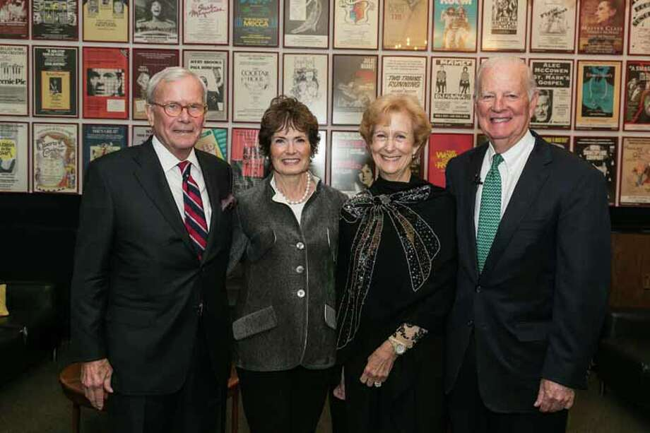 Tom and Meredith Brokaw and Susan and James A. Baker III Photo: Shmulik Almany