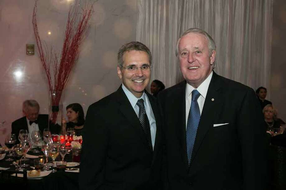 Ron DePinho and Brian Mulroney Photo: Shmulik Almany