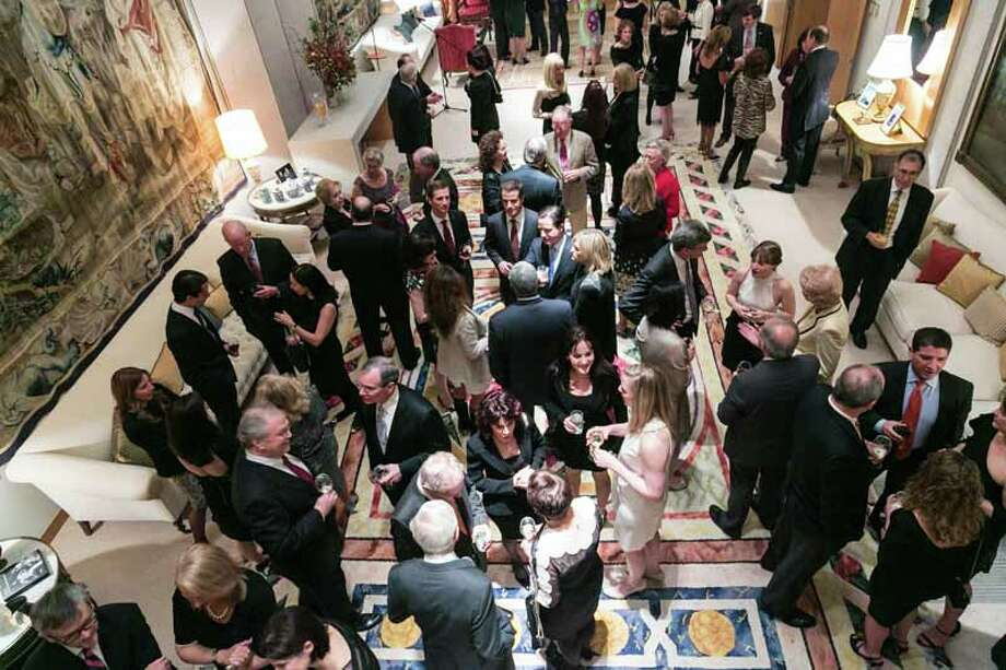 A scene from the VIP Party at the residence of the Spanish Ambassador to the U.S. during events for the Conversation With a Living Legend tribute to former Secretary of State James A. Baker III. Photo: Shmulik Almany
