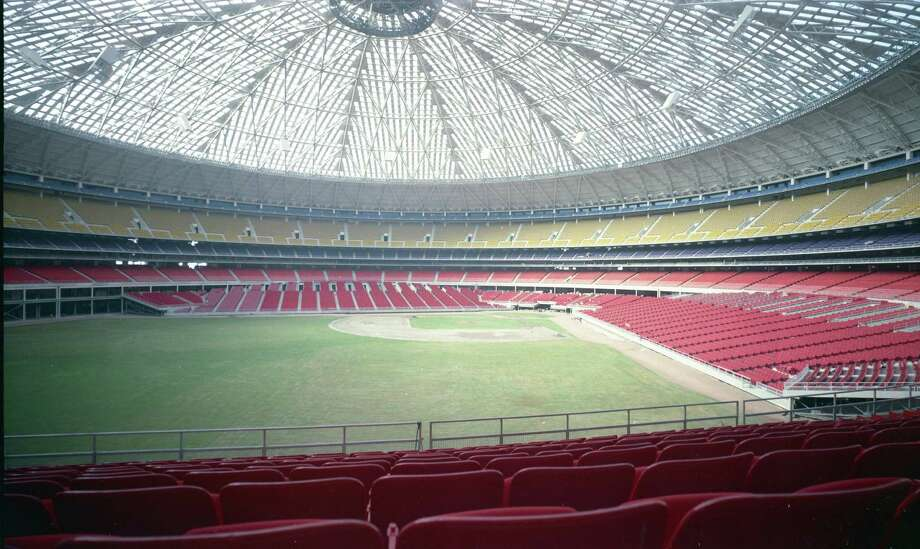 Early Astrodome interior. Photo: HP Staff / Houston Post files