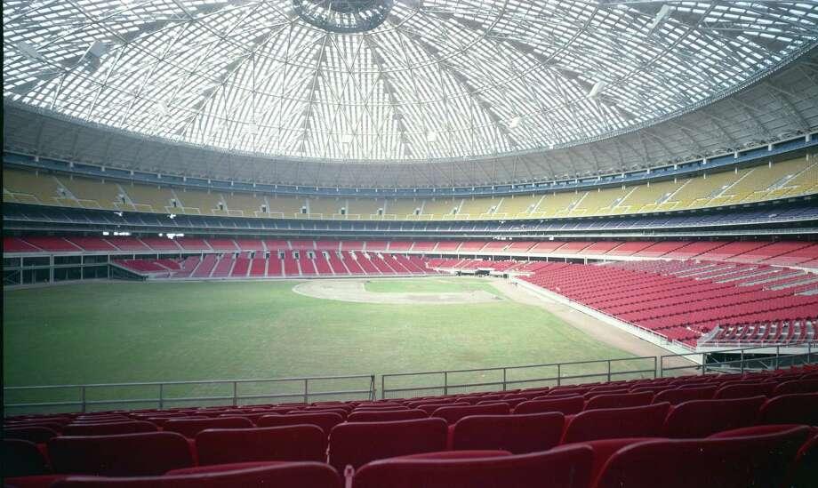 Early Astrodome interior. Photo: HP Staff / Houston Post files