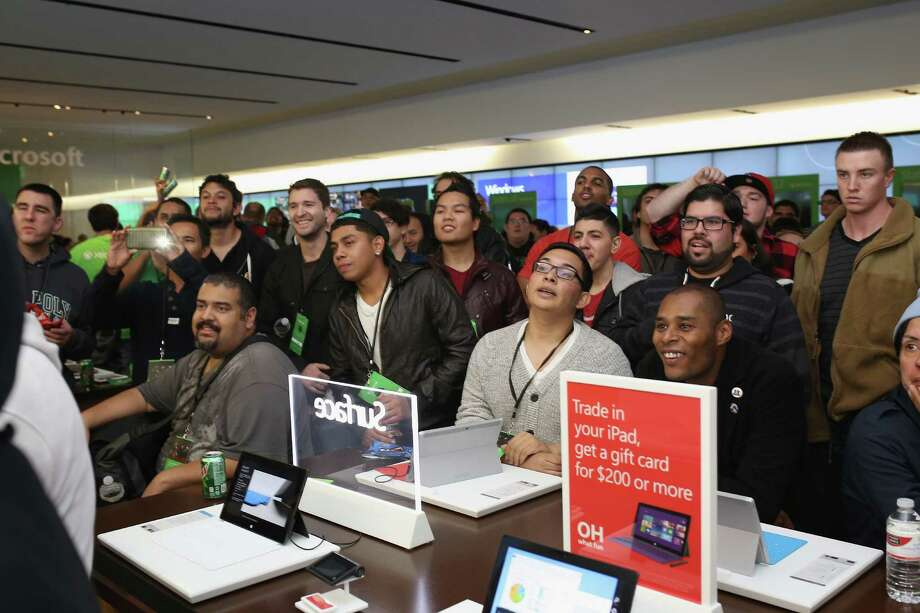 SAN DIEGO, CA - NOVEMBER 22:  Fans look on as gamers compete in a gaming tournament at the Microsoft retail store at Fashion Valley Mall in San Diego, California on November 22, 2013 for the chance to win up to $25,000 in prizes and a chance to participate in a final showdown at the Jacksonville, Fla. Microsoft Store opening, featuring a performance by Macklemore and Ryan Lewis. Tournament finalists will receive an Ultimate Xbox One Gaming House including all launch night titles in each of the six participating stores.  (Photo by Robert Benson/Getty Images for Microsoft) Photo: Robert Benson, Courtesy / 2013 Getty Images