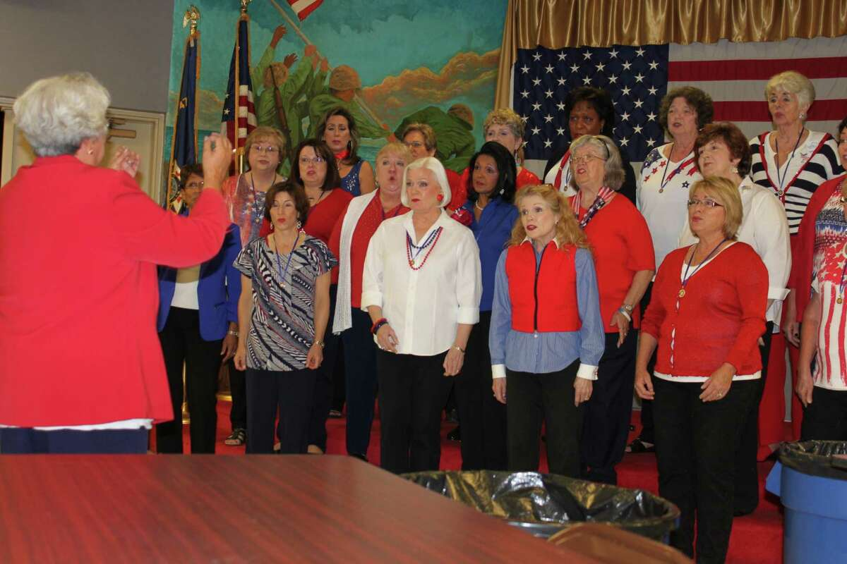 The Woodlands Show Chorus daytime chorus Daybreak entertains at VFW Post 4709 on Veterans Day.