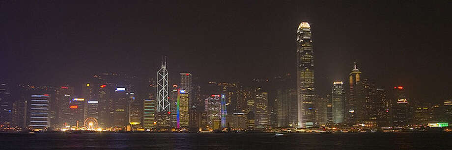 Hong Kong at night by wenzday01.  See the original photo at http://www.flickr.com/photos/rgs_/5125106393/ Flickr/creative commons license Photo: Flickr