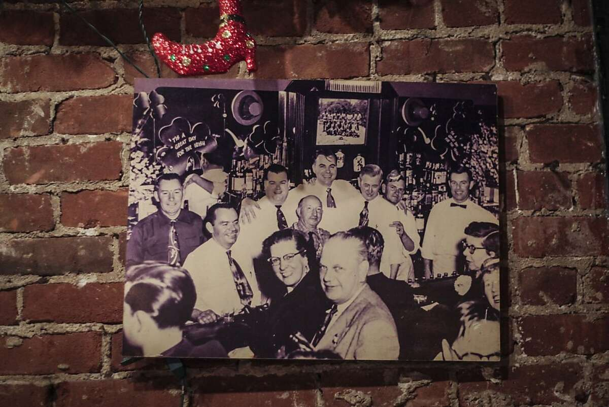 A photo of the previous bar in the same location called McCarthys, hangs on the wall of Cha Cha Cha in San Francisco on November 22nd 2013.