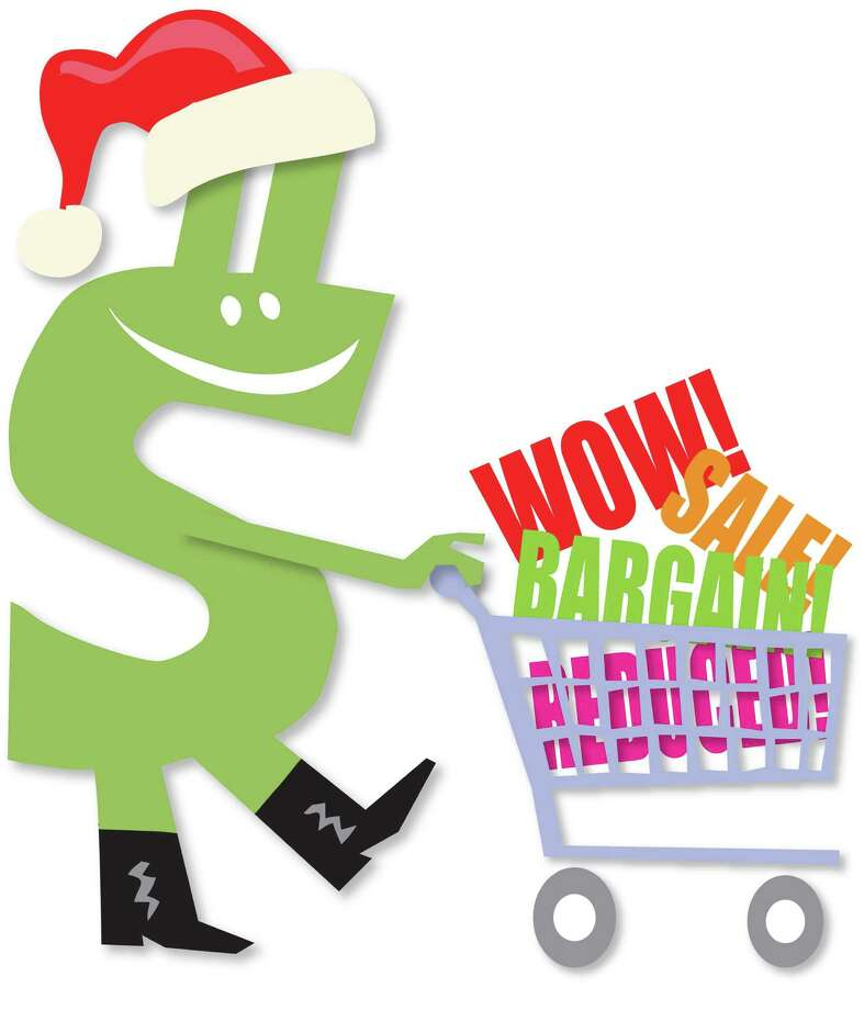 """300 dpi Chris Ware color illustration of a green dollar sign wearing a red stocking cap and pushing a shopping cart with the words """"Wow!"""", """"Sale!"""", """"Bargain!"""" and """"Reduced!"""" in it. Lexington Herald-Leader 200904000000; FIN; krtbusiness business; krtcampus campus; krtnational national; krt; mctillustration; 04007001; 04007002; 04007004; 04007005; 04007006; 04007007; 04007009; 04007010; 04007012; clothing; department store; ELC; electronic commerce; krtconsumergoods consumer goods; krtgoods goods; krtnamer north america; krtstore store; krttoy toy; krtusbusiness; luxury goods; mail order; retail; specialty store; TEX; u.s. us united states; wholesale; 10011000; 1201; FEA; krtchristianity christianity; krtchristmas christmas; krtfeatures features; krtholiday holiday; krtlifestyle lifestyle; krtreligion religion; krtwinter winter; krtxmas xmas; LEI; leisure; LIF; public holiday; REL; religious festival; religious holiday; bargain; dollar sign; lx contributed; sale; shop shopping; shopping cart; stocking cap; ware; 2009; krt2009 Photo: Ware / © MCT 2009"""