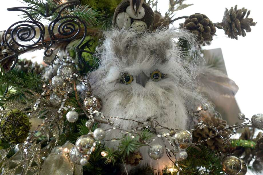 "One of the decorated trees, titled ""It's a Hoot"", at the Ann's Place Festival of Trees at the Matrix Conference & Banquet Center in Danbury, Conn, on Saturday, November, 23, 2013.  The event continues on Sunday, 10 am to 5 pm. Photo: H John Voorhees III / The News-Times Freelance"