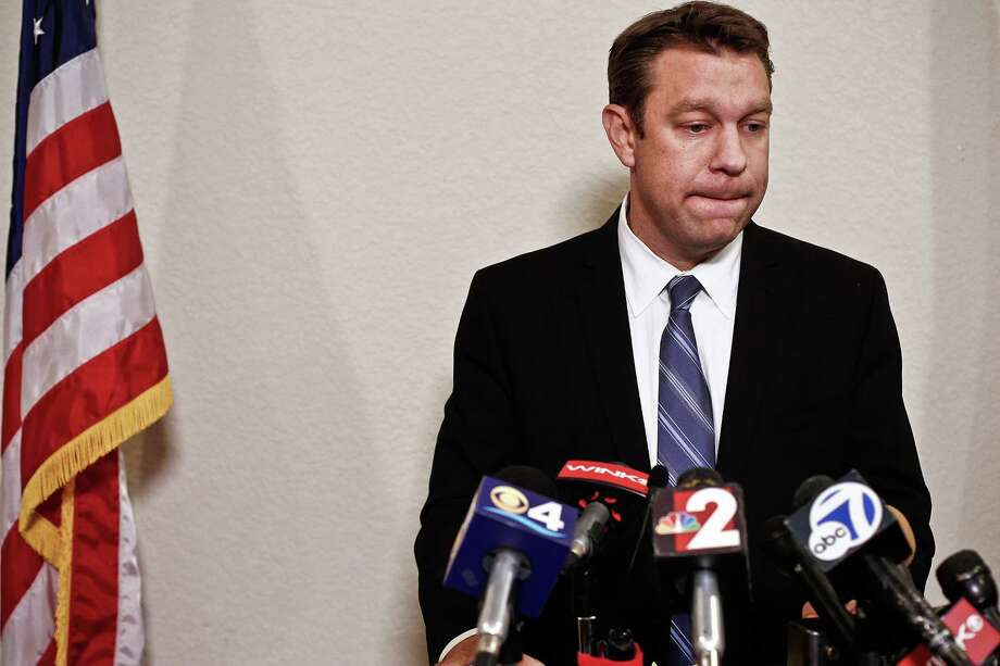 Congressman Trey Radel holds an emotional news conference on Wednesday night before checking into a Florida rehab facility. Photo: Scott McIntyre, MBR / Naples Daily News