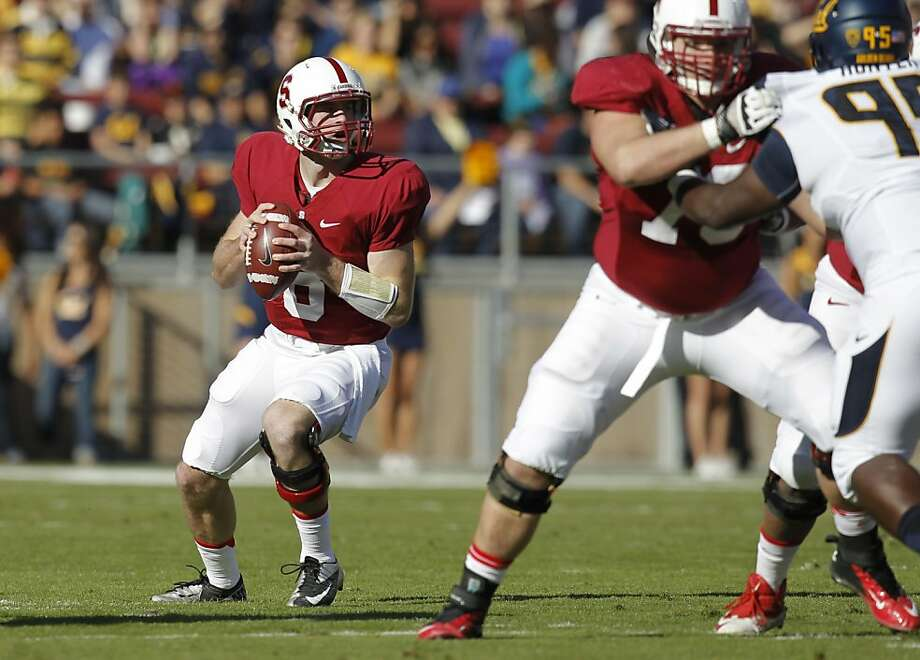 Stanford quarterback Kevin Hogan, (8) back to pass in the first quarter, as the Stanford Cardinal takes on the California Golden Bears in the 116th Big game match up on Saturday Nov. 23, 2013 at Stanford stadium in Palo Alto, Ca. Photo: Michael Macor, The Chronicle