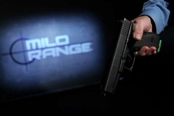 This replica of a Glock is used in the police shooting simulator, which is used during orientation of new grand jurors.