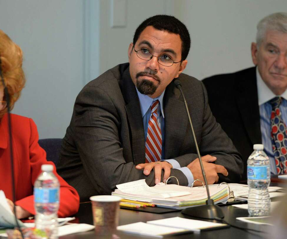 New York State Education Commissioner John B. King Jr. listens as presentations are made Monday morning Oct. 21, 2013, during the Board of Regents meeting at the State Education Building in Albany, N.Y. (Skip Dickstein/Times Union)