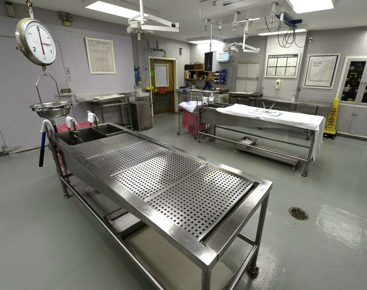 The interior of the Autopsy Room Nov. 15, 2013 at the Albany Medical Center in Albany, N.Y. (Skip Dickstein / Times Union)