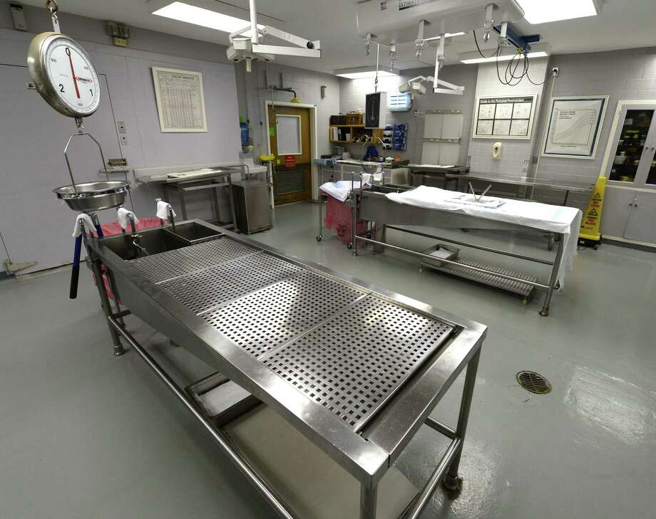 The interior of the Autopsy Room Nov. 15, 2013 at the Albany Medical Center in Albany, N.Y.     (Skip Dickstein / Times Union) Photo: Skip Dickstein / 00024651A
