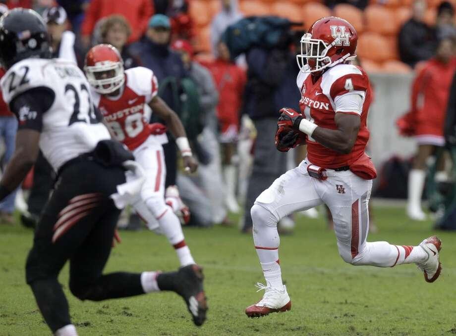 Nov. 23: Cincinnati 24, UH 17Record: 7-4UH receiver Daniel Spencer runs after a catch against Cincinnati. Photo: J. Patric Schneider, For The Chronicle