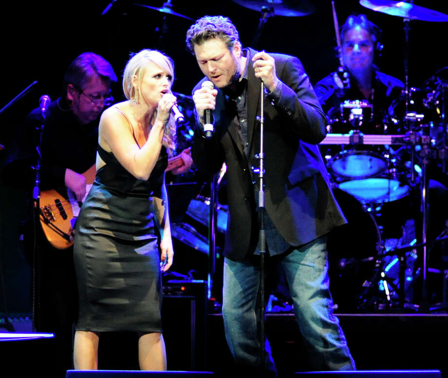 Miranda Lambert and Blake Shelton perform at the tribute concert for the late George Jones, Friday, Nov. 22, 2013, in Nashville, Tenn. Jones had originally scheduled his final show for Friday. He died April 26. (AP Photo/Mike Strasinger) Photo: Mike Strasinger, FRE / FR155495 AP