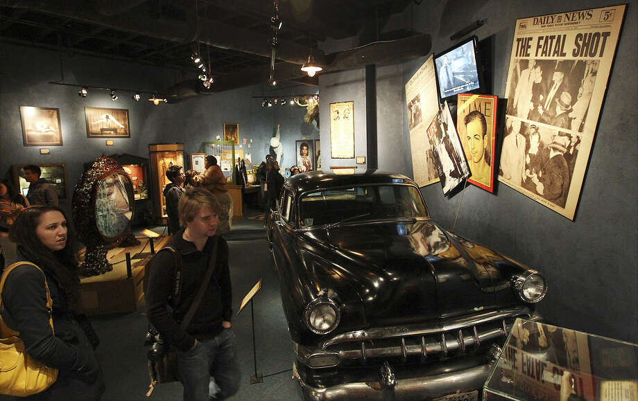 The Lee Harvey Oswald exhibit in Ripley's Believe It or Not! includes the 1954 Chevrolet that Oswald rode in on his way to work the day he assassinated President John F. Kennedy. Photo: Kin Man Hui / San Antonio Express-News