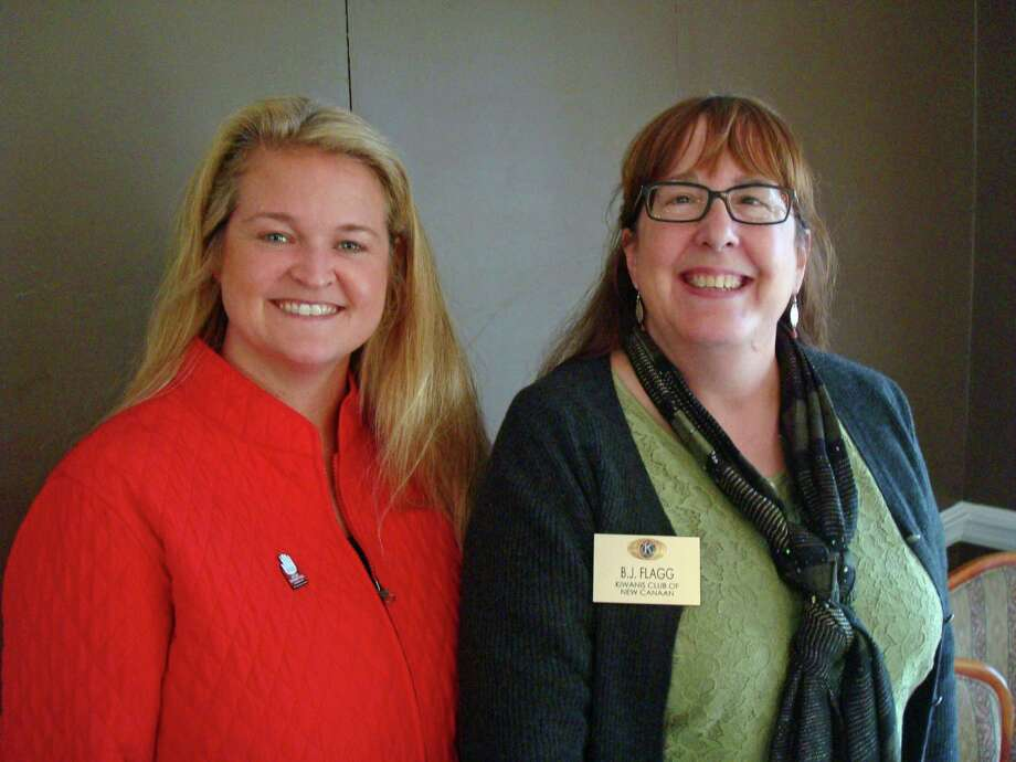 Andrea Dunnam, manager of fundraising and special events for the Fairfield County Division of the American Diabetes Association, and BJ Flagg, a member of the Kiwanis Club, at a recent Kiwanis event. Photo: Contributed Photo / New Canaan News