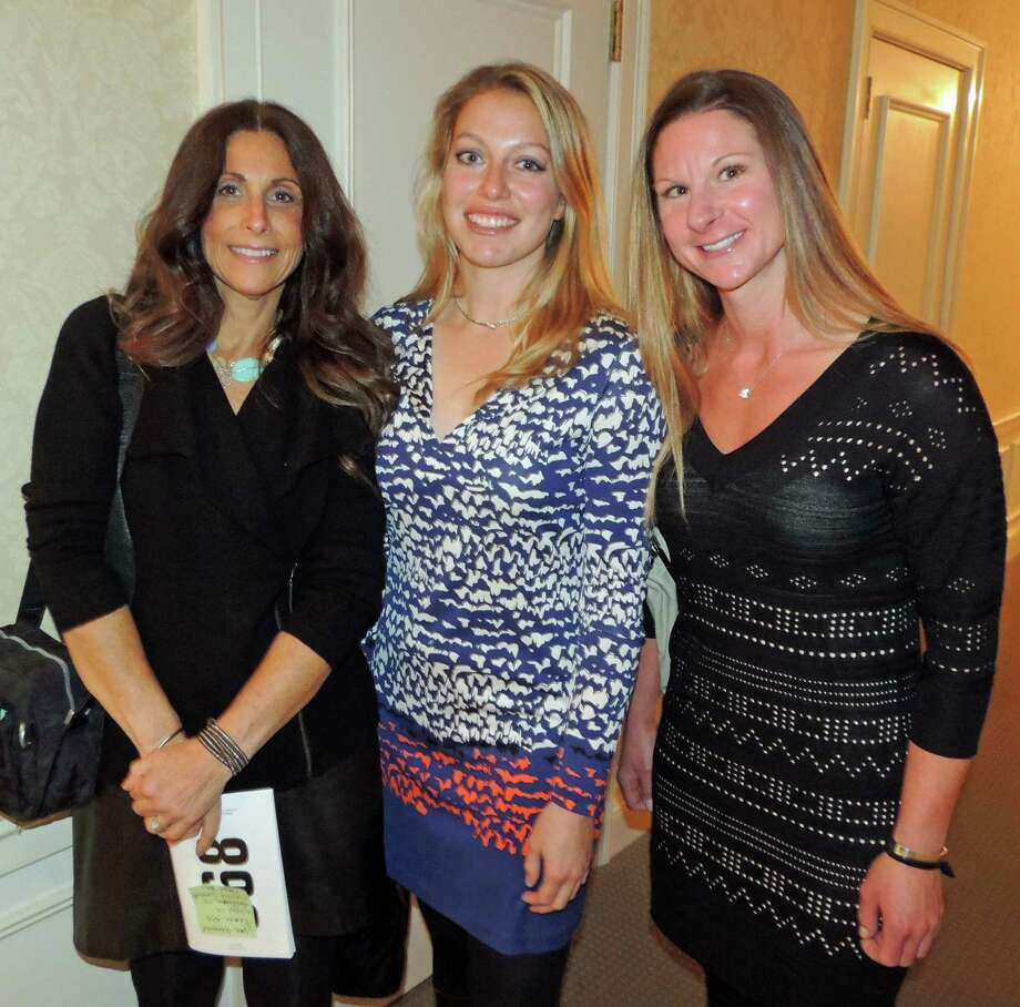The New Canaan Mounted Troops staff spoke at the 12th annual STAR Gala about their work with STAR. Pictured are Susan Weber, Hannah Wirfel and Jessica DíUrso. Photo: Contributed Photo / New Canaan News