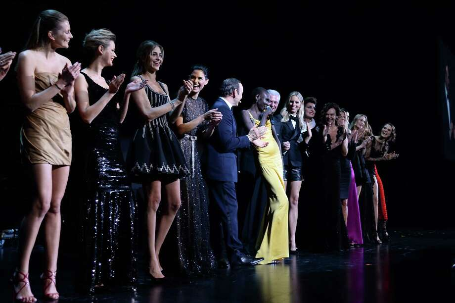 Kevin Spacey Marco Tronchetti Provera and the group of models attend The Pirelli Calendar 50th Anniversary  Dinner on November 21, 2013 in Milan, Italy.  (Photo by Venturelli/WireImage) Photo: Venturelli, Getty Images / 2013 Venturelli
