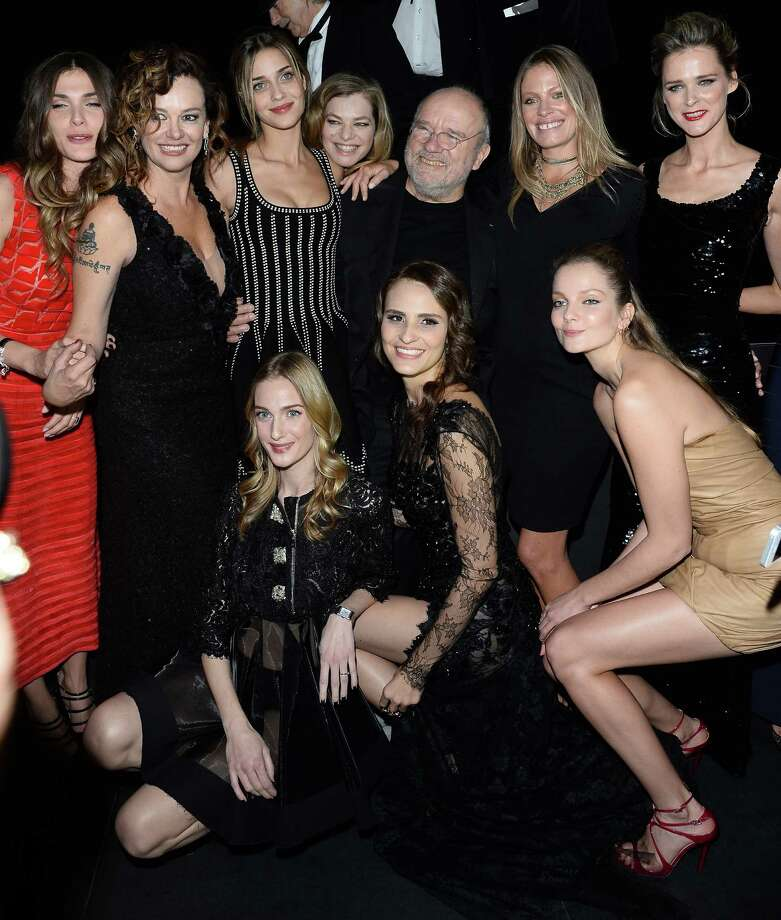 Peter Lindbergh andthe group of models attend The Pirelli Calendar 50th Anniversary  Dinner on November 21, 2013 in Milan, Italy.  (Photo by Venturelli/WireImage) Photo: Venturelli, Getty Images / 2013 Venturelli
